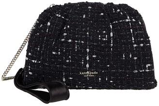 Kate Spade Deedee Tweed Clutch (Black Multi) Clutch Handbags
