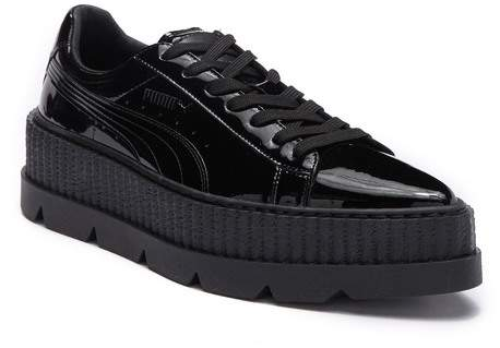 Puma Pointed Toe Creeper Patent Platform Sneaker