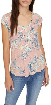 Sanctuary Alma Scoop Tee (Tropic Beach Babe) Women's Clothing