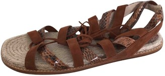 Paul Andrew Camel Leather Sandals
