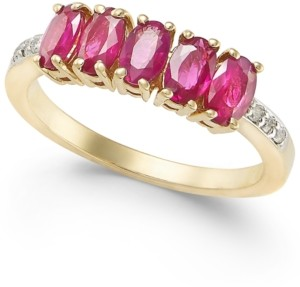 Macy's Ruby (1-3/4 ct. t.w.) & Diamond Accent Ring in 14k Gold