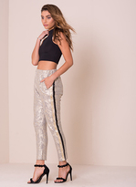 Missy Empire Piper Gold Metallic Trousers