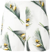 Cacharel leaf print shorts - women - Silk/Spandex/Elastane - 34