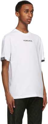 Versace White Embroidered Logo T-Shirt