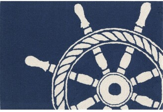 Liora Manné Frontporch Ship Wheel Indoor/Outdoor Mat