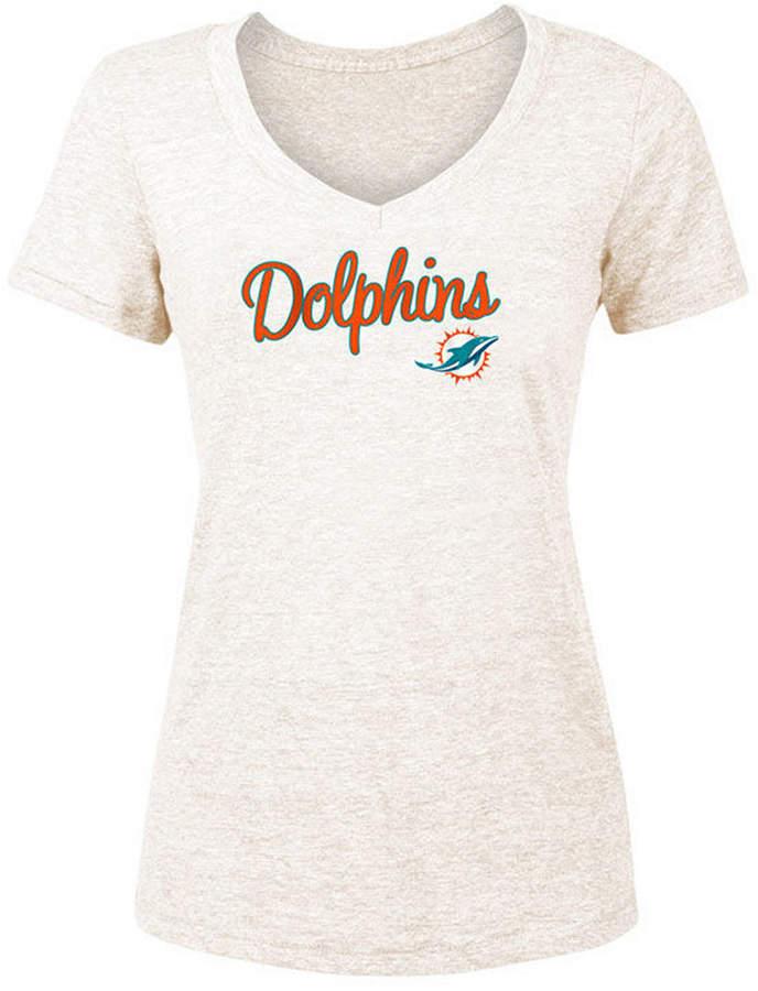 5th & Ocean Women Miami Dolphins Script Tri-Blend T-Shirt