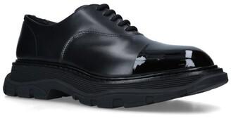 Alexander McQueen Leather Cap-Toe Tread Derby Shoes