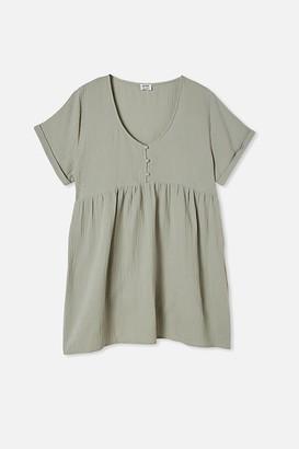 Cotton On Curve Button Up Beach Dress