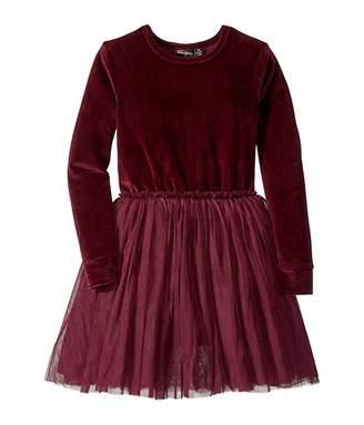 Rock Your Baby Velvet Long Sleeve Circus Dress (Toddler/Little Kids/Big Kids)