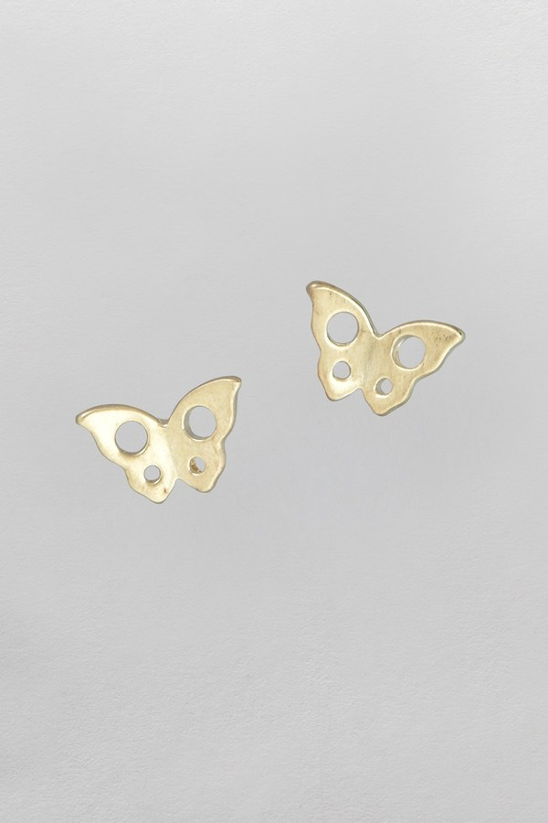 French Connection Butterfly Cutout Stud Earrings
