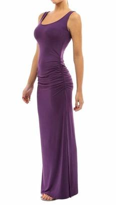Top Vigor Top-Vigor Women's Casual Sleeveless U-Neck Split Tank Top Bodycon Long Maxi Dress - Split Hem Beach