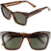Spitfire Women's 53Mm Retro Sunglasses - Tortoise Shell/ Dark Green