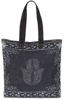 Ale By Alessandra Hatha Canvas Beach Tote Bag, Black