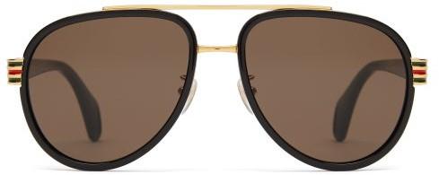 9308d53b6f72 Gucci Black Men's Sunglasses - ShopStyle