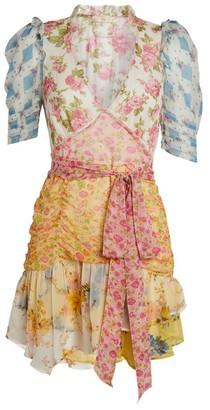 LoveShackFancy Arlo Patchwork Mini Dress