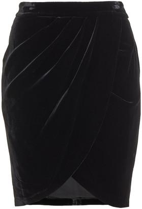 Veronica Beard Vega Wrap-effect Velvet Mini Skirt