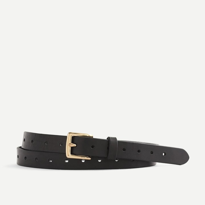 J.Crew Perforated Italian leather belt