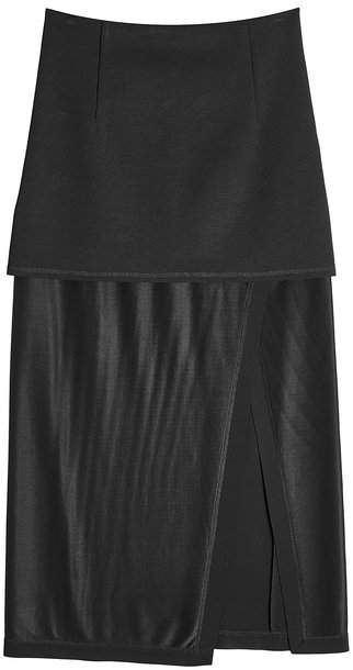DKNY Midi Skirt with Slit