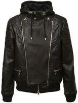 Balmain Zipped Detail Biker Jacket