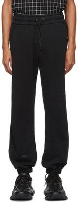 A-Cold-Wall* Black Jersey Core Reflective Logo Lounge Pants
