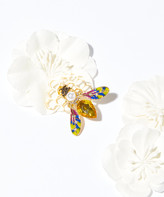 Frankie & Stein Women's Brooches and Pins - Rhinestone Bee & Honeycomb Brooch
