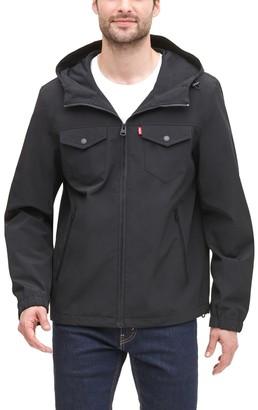 Levi's Men's Lightweight Arctic Cloth Hooded Rain Jacket