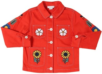 Stella McCartney Kids Stretch Cotton Denim Jacket W/ Patches