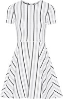 Opening Ceremony Clos striped textured-jersey mini dress