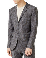 Topman Fern Print Skinny Fit Sports Jacket