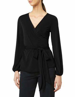 Meraki Amazon Brand Women's Crepe Wrap Top