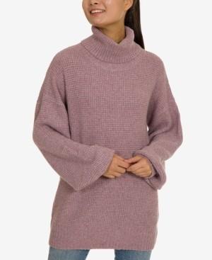 Hippie Rose Juniors' Turtleneck Tunic Sweater