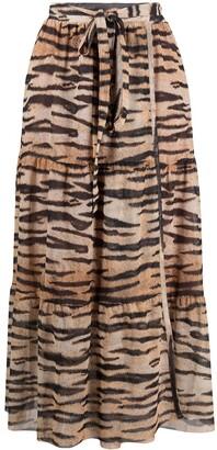 Baum und Pferdgarten Tiger-Print Maxi Skirt