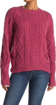 NSF Anabell Cable Knit Crew Sweater