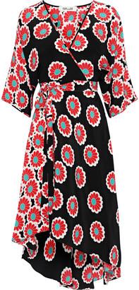 Diane von Furstenberg Eloise Floral-print Silk Crepe De Chine Wrap Dress