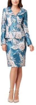 Tahari ASL Petite Floral-Print Skirt Suit