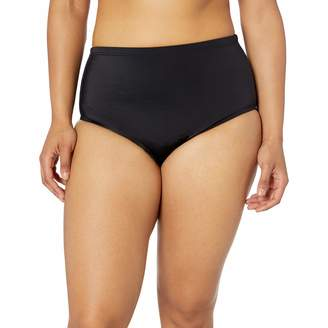 Fit 4 U Women's Plus Size Solid Swim Bottom with Full Tummy Control