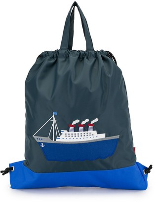Familiar Shell Drawstring Bag