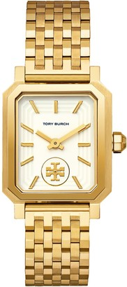 Tory Burch Robinson Watch, Gold-Tone/Cream, 27 X 29 MM
