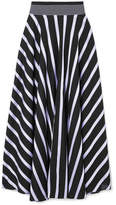 Diane von Furstenberg Striped Cotton-blend Maxi Skirt - Black
