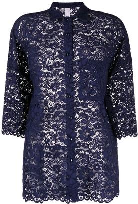 Ultràchic Sheer Floral Lace Shirt