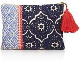 Sky Indigo Embroidered Pouch