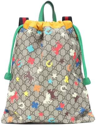Gucci Kids GG Ranch canvas backpack