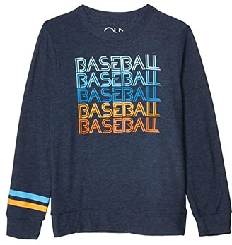 Chaser Baseball Hero Cozy Knit Crew Neck Pullover Sweater (Little Kids/Big Kids) (Avalon) Boy's Clothing