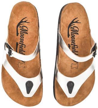 Moosefield Women's Sandals Silver - Silver Side-Buckle Leather Sandal - Women