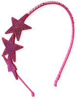 Bari Lynn Embellished Star Rhinestone Headband, Fuchsia