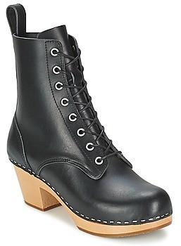 Swedish Hasbeens LILIAN women's Low Ankle Boots in Black