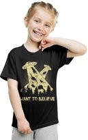Crazy Dog T-shirts Crazy Dog Tshirts Youth I Want To Believe In Dinosaurs UFO T Shirt Funny Sci Fi Tee -L