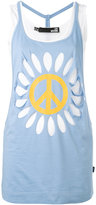 Love Moschino flower power tank top - women - Cotton - 40