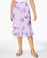 Alfred Dunner Roman Holiday Printed Flared Skirt