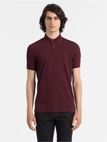 Calvin Klein Slim Fit Cotton Piqu Color Tipped Polo Shirt